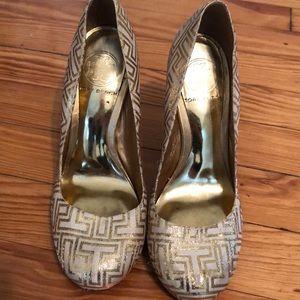 Tory Burch Gold Heels Size 6